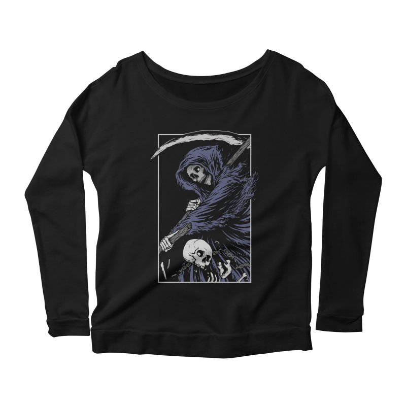 Reaper Women's Scoop Neck Longsleeve T-Shirt by Deniart's Artist Shop
