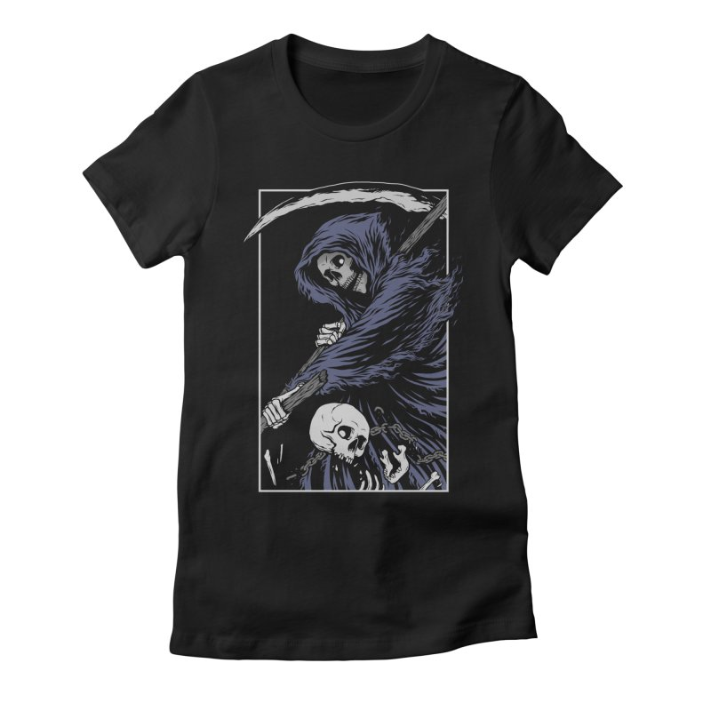 Reaper Women's Fitted T-Shirt by Deniart's Artist Shop