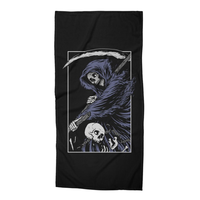 Reaper Accessories Beach Towel by Deniart's Artist Shop