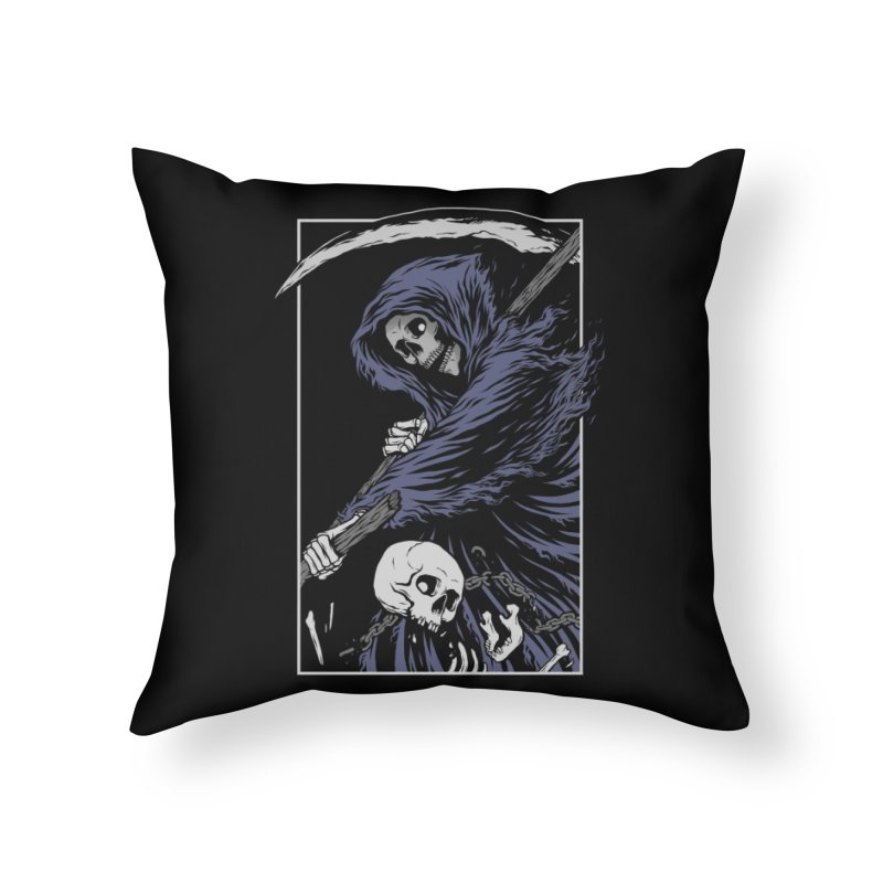 Reaper Home Throw Pillow by Deniart's Artist Shop