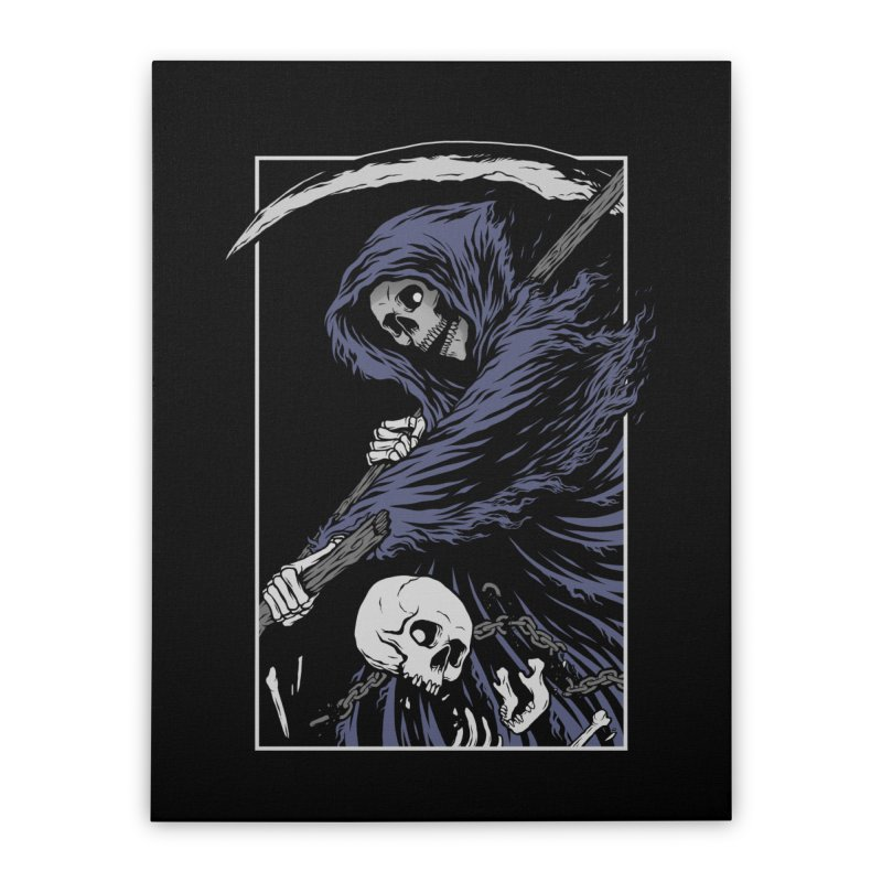 Reaper Home Stretched Canvas by Deniart's Artist Shop