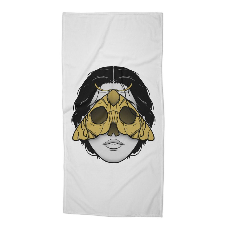 Bad Omen Accessories Beach Towel by Deniart's Artist Shop