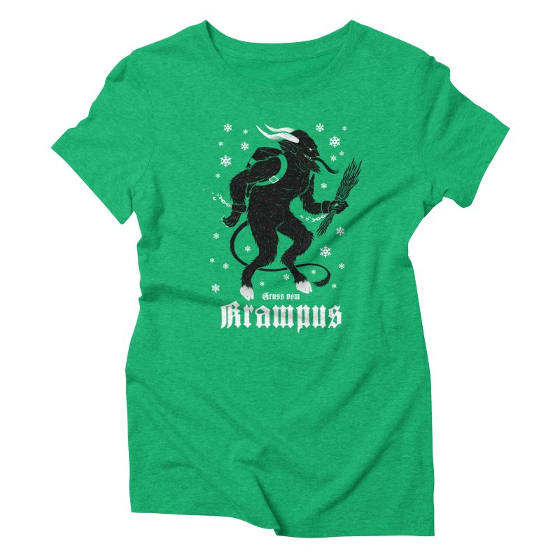 Krampus Women's Triblend T-Shirt by Deniart's Artist Shop