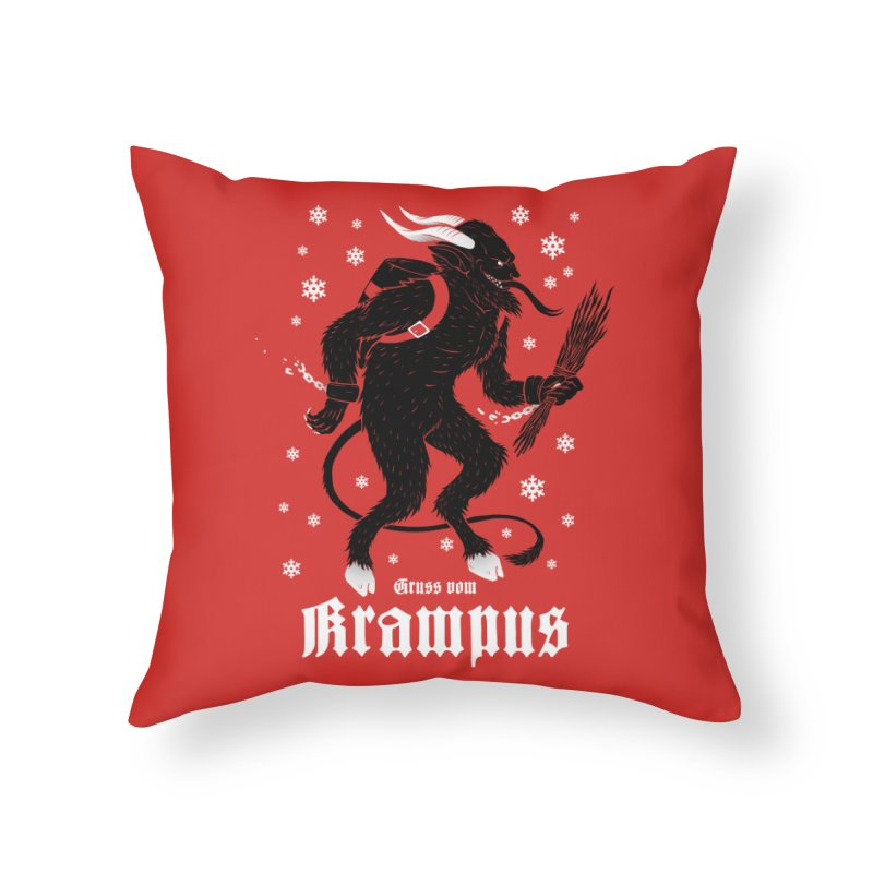 Krampus Home Throw Pillow by Deniart's Artist Shop