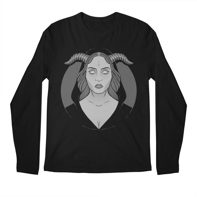 Occult Girl Men's Regular Longsleeve T-Shirt by Deniart's Artist Shop