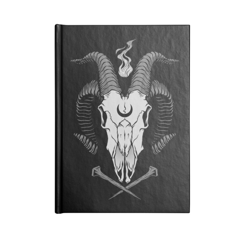 Occult Goat Skull Accessories Blank Journal Notebook by Deniart's Artist Shop