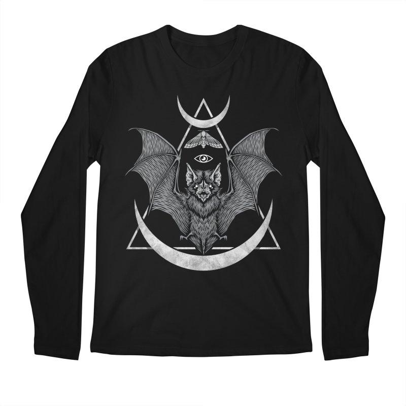Occult Bat Men's Regular Longsleeve T-Shirt by Deniart's Artist Shop