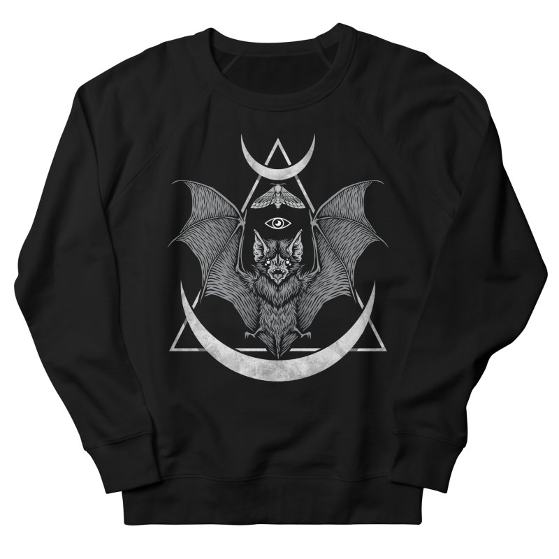 Occult Bat Men's French Terry Sweatshirt by Deniart's Artist Shop