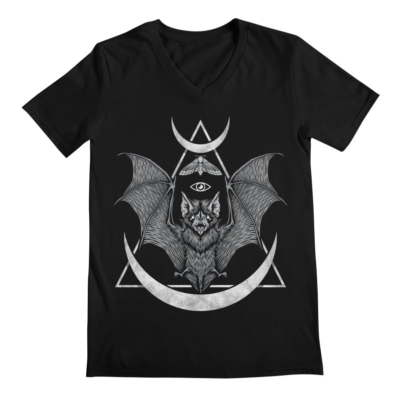 Occult Bat Men's Regular V-Neck by Deniart's Artist Shop