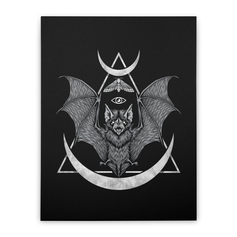 Occult Bat Home Stretched Canvas by Deniart's Artist Shop