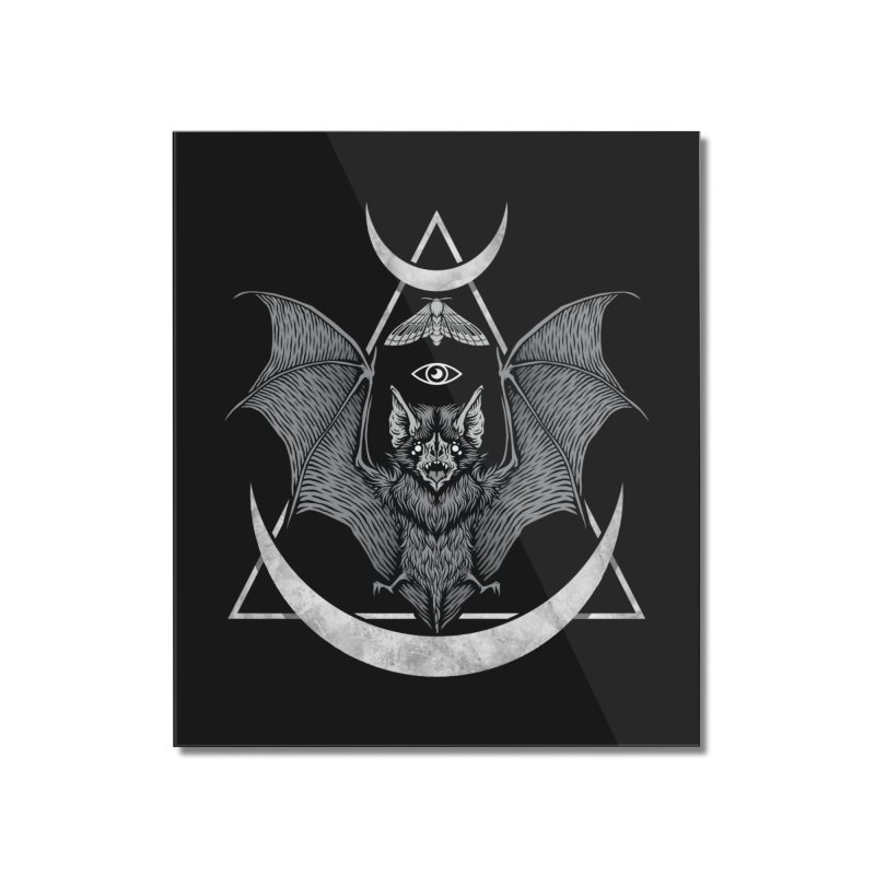 Occult Bat Home Mounted Acrylic Print by Deniart's Artist Shop