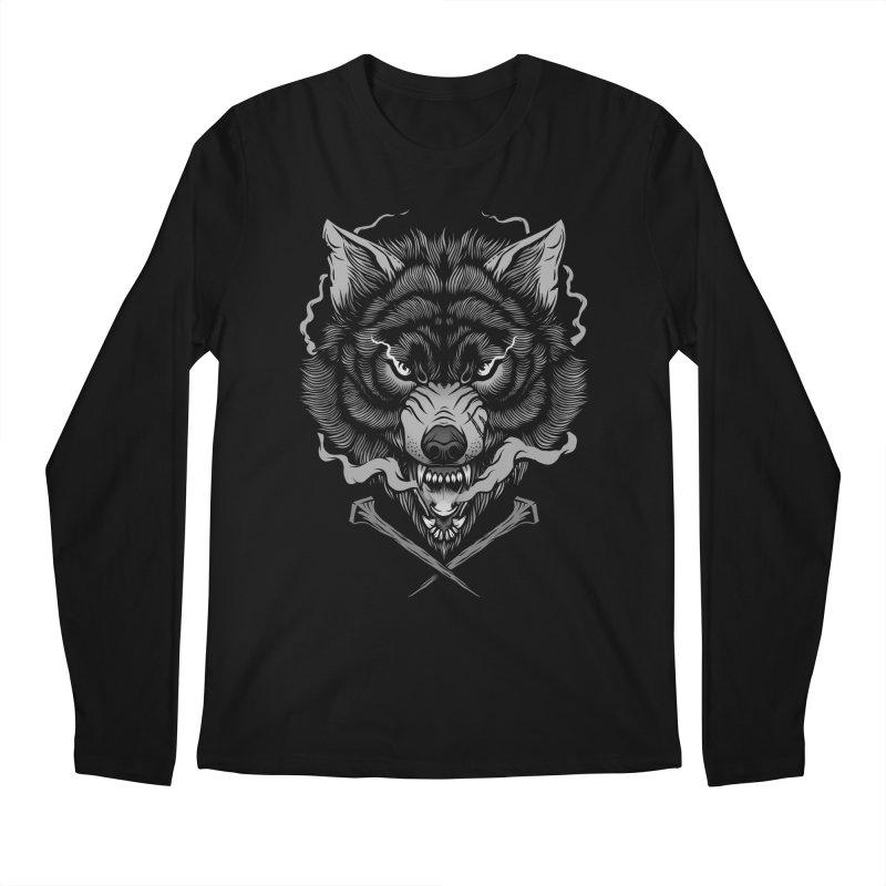 Dark Wolf Men's Regular Longsleeve T-Shirt by Deniart's Artist Shop