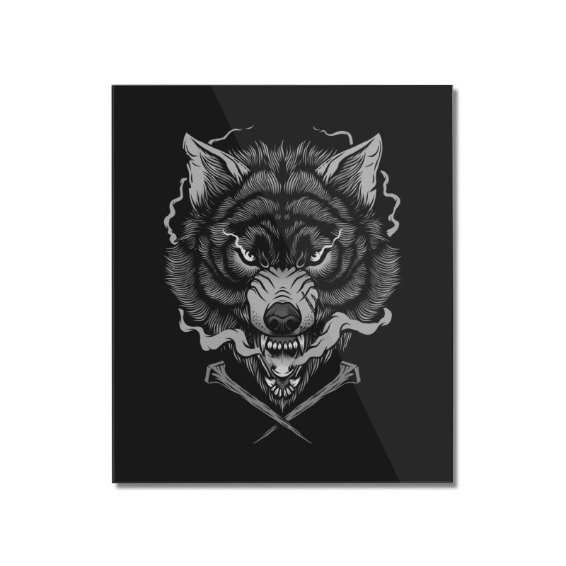 Dark Wolf Home Mounted Acrylic Print by Deniart's Artist Shop