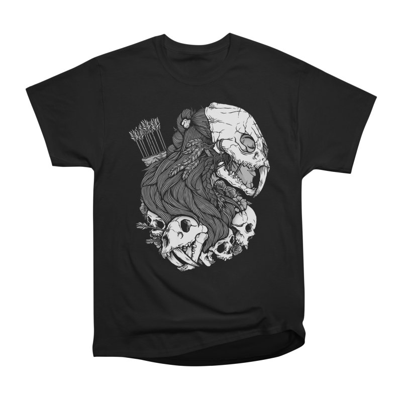 Prehistoric Girl Men's Heavyweight T-Shirt by Deniart's Artist Shop