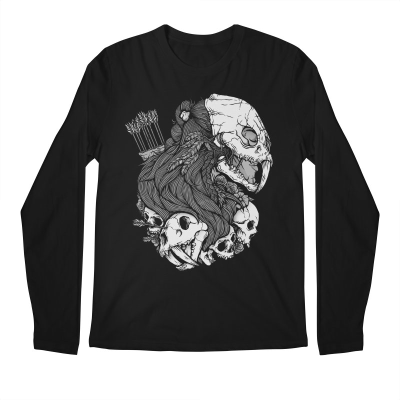 Prehistoric Girl Men's Regular Longsleeve T-Shirt by Deniart's Artist Shop