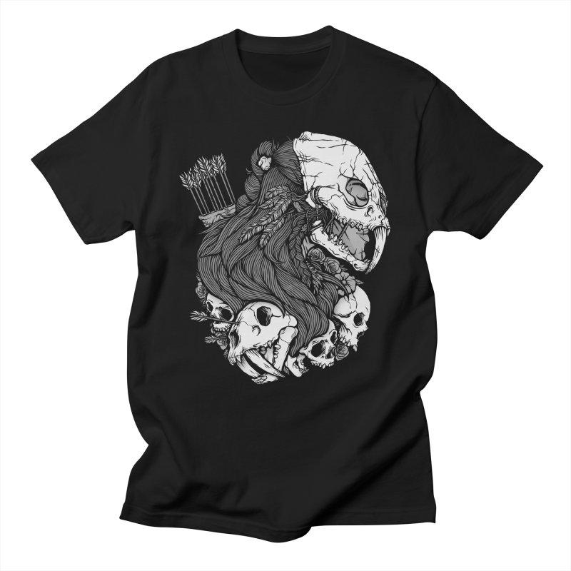 Prehistoric Girl Women's Regular Unisex T-Shirt by Deniart's Artist Shop