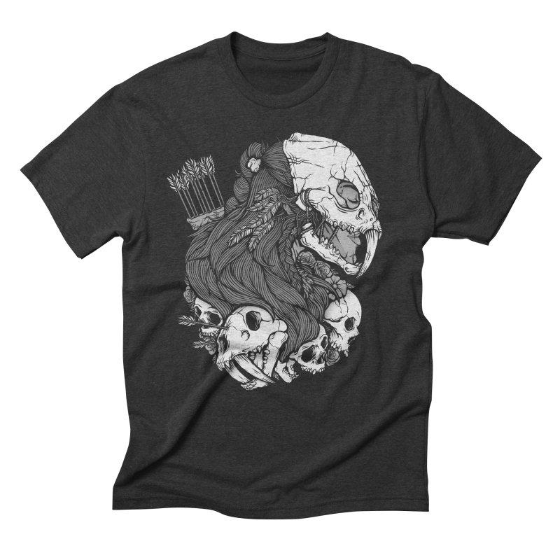 Prehistoric Girl Men's Triblend T-Shirt by Deniart's Artist Shop