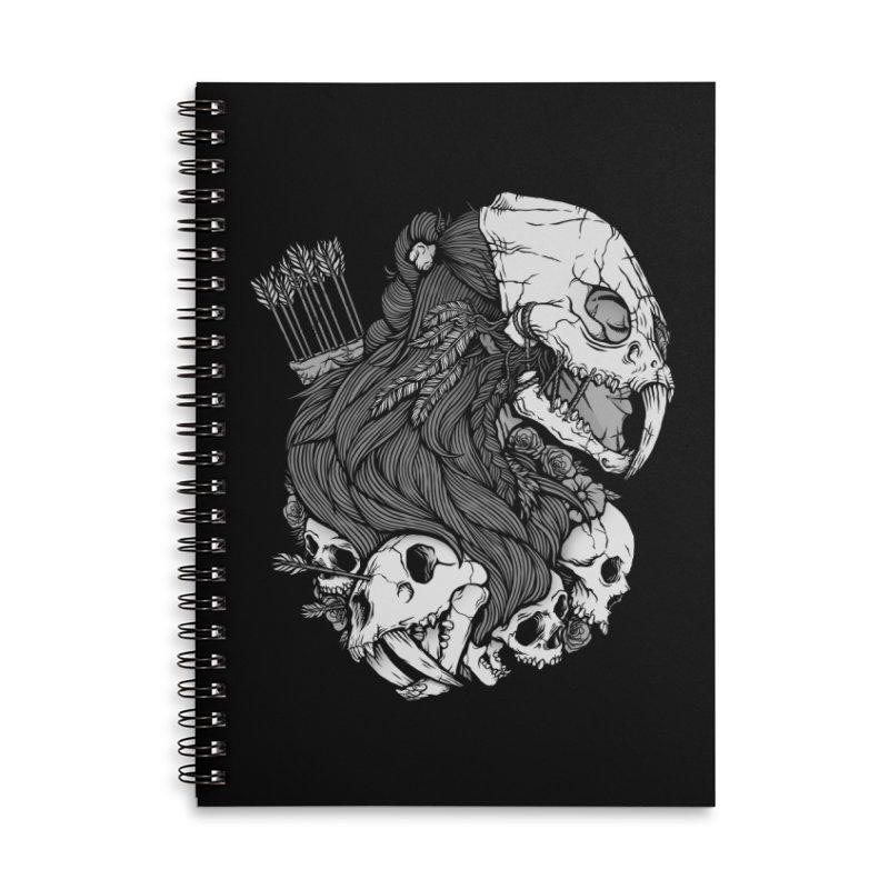 Prehistoric Girl Accessories Lined Spiral Notebook by Deniart's Artist Shop