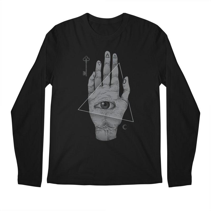 Witch Hand Men's Longsleeve T-Shirt by Deniart's Artist Shop