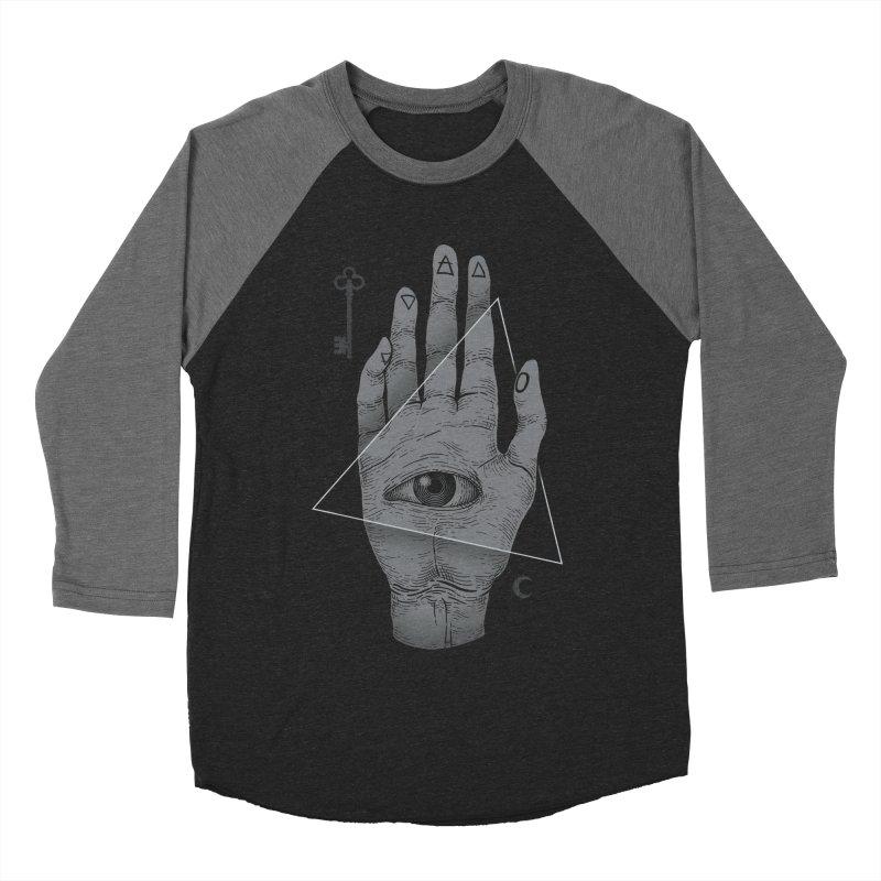 Witch Hand Men's Baseball Triblend T-Shirt by Deniart's Artist Shop