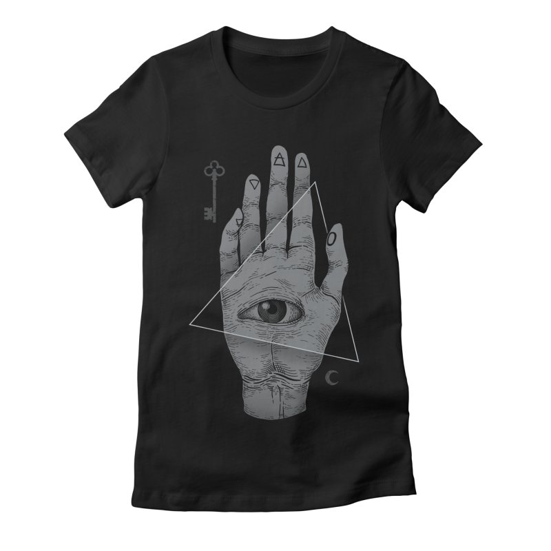 Witch Hand Women's Fitted T-Shirt by Deniart's Artist Shop