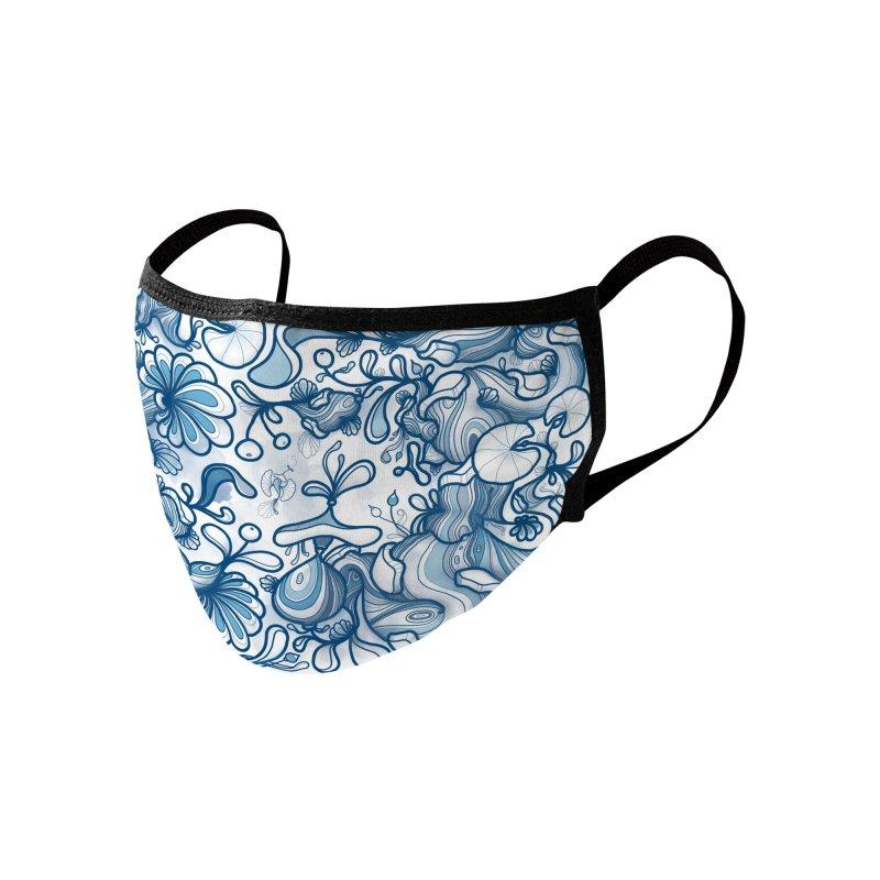 'Blue Floral Friends' Accessories Face Mask by denisefort's Artist Shop
