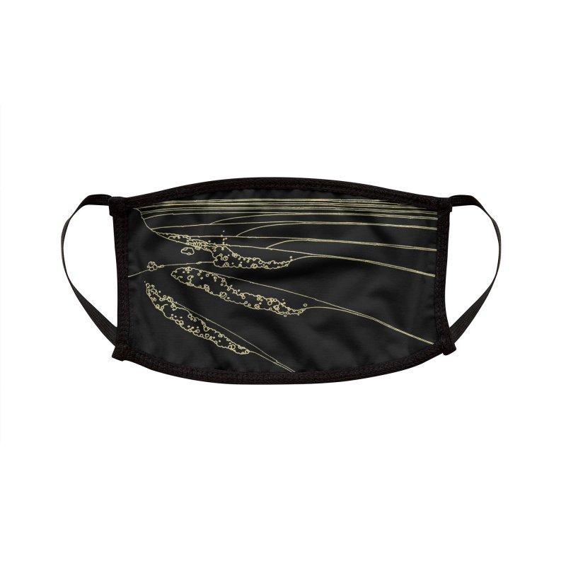 Raglan Point Break Black Accessories Face Mask by denisefort's Artist Shop
