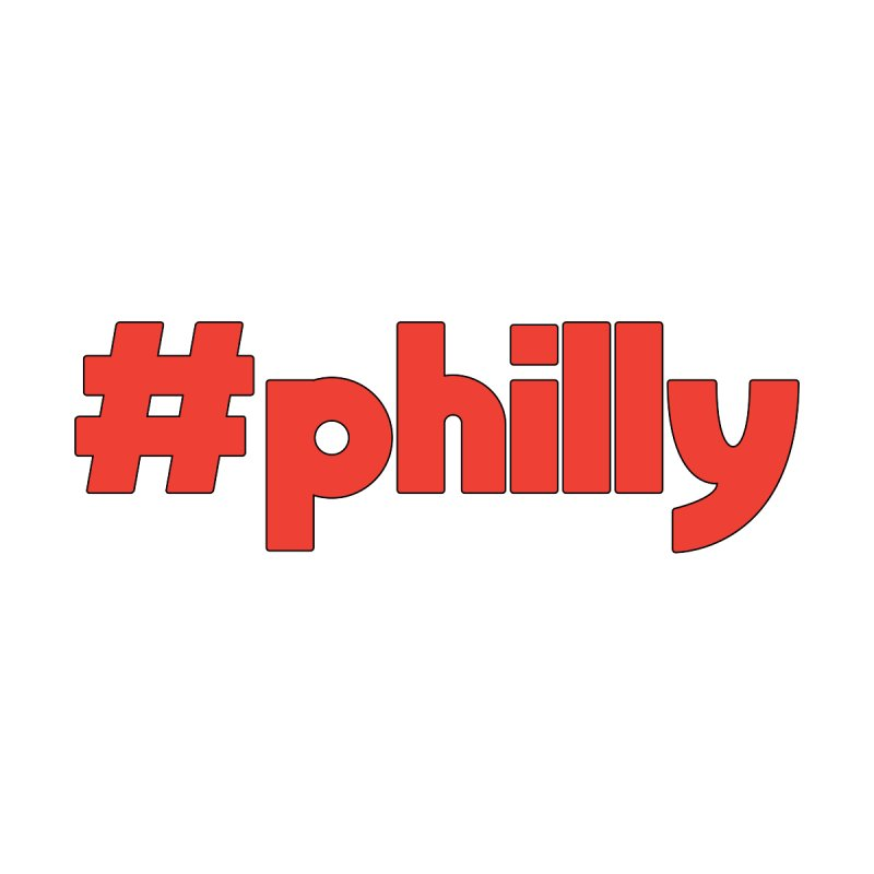 Hashtag Philly Women's T-Shirt by denisegraphiste's Artist Shop