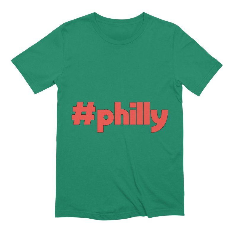 Hashtag Philly Men's Extra Soft T-Shirt by denisegraphiste's Artist Shop