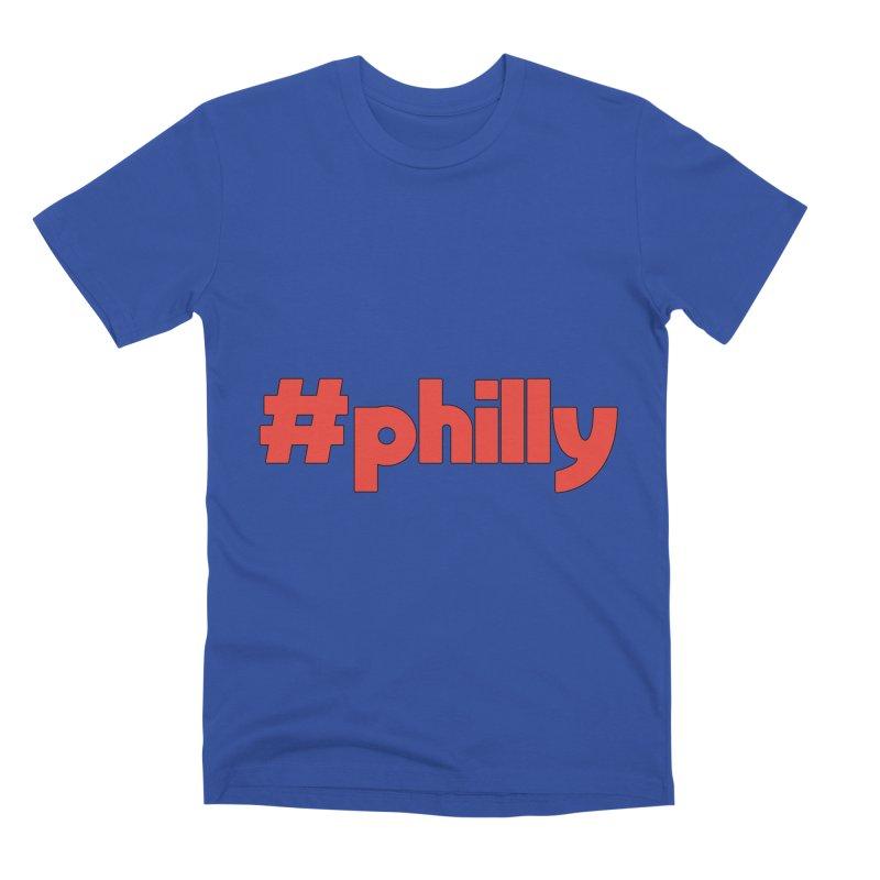 Hashtag Philly Men's T-Shirt by denisegraphiste's Artist Shop