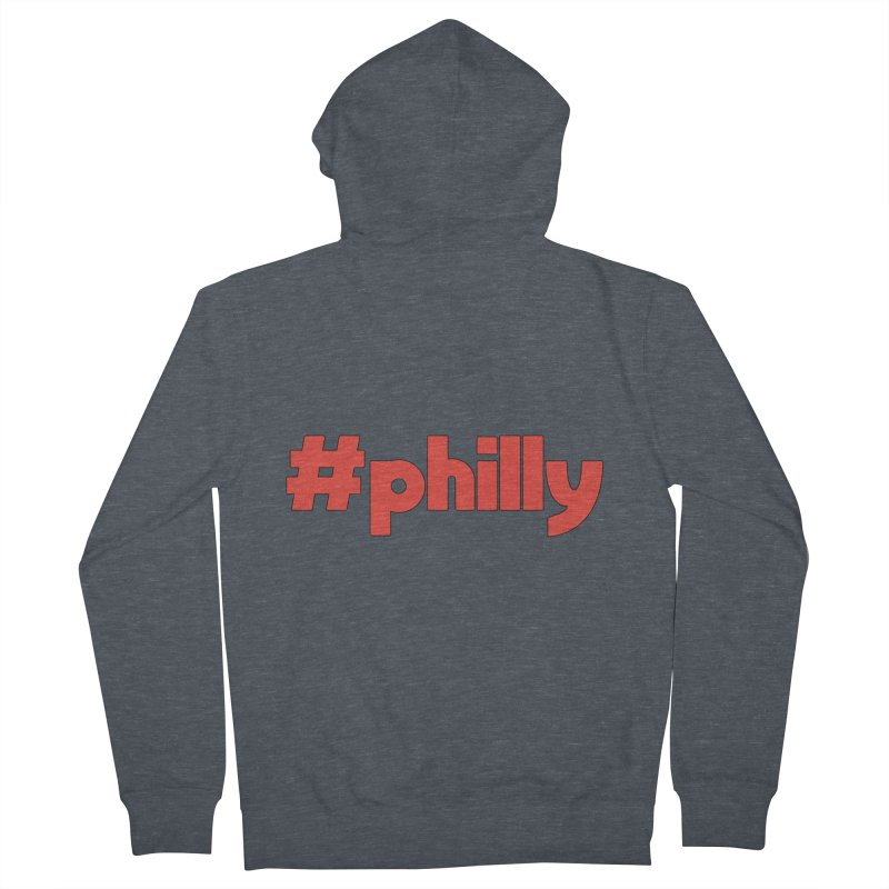 Hashtag Philly Men's French Terry Zip-Up Hoody by denisegraphiste's Artist Shop