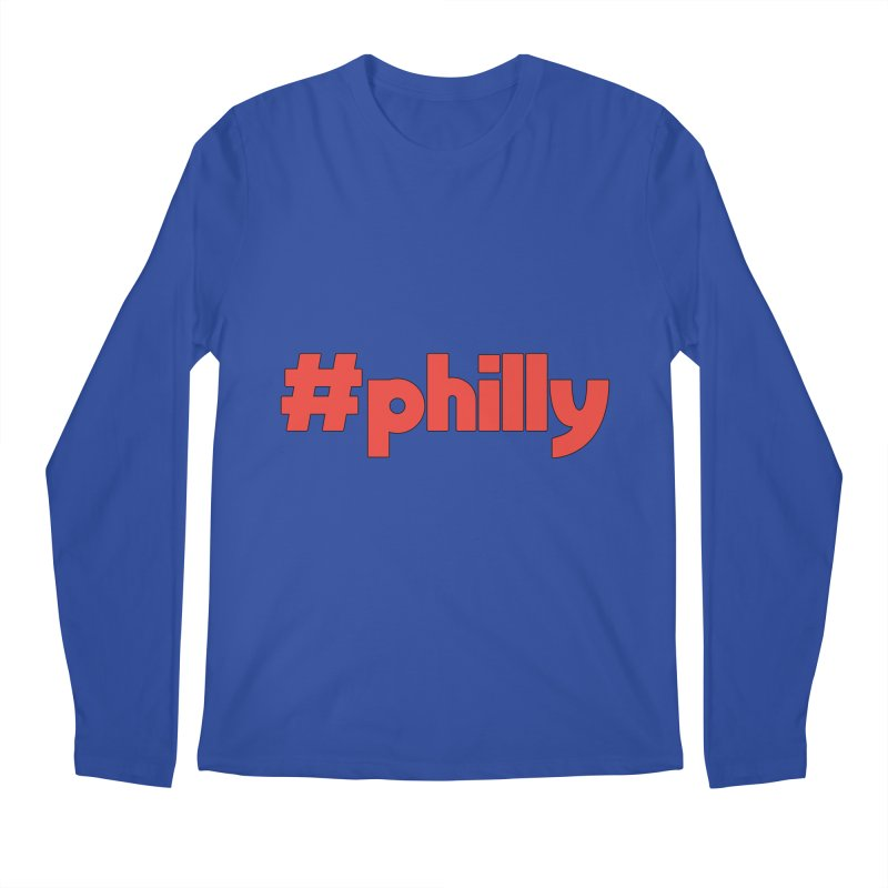 Hashtag Philly Men's Regular Longsleeve T-Shirt by denisegraphiste's Artist Shop