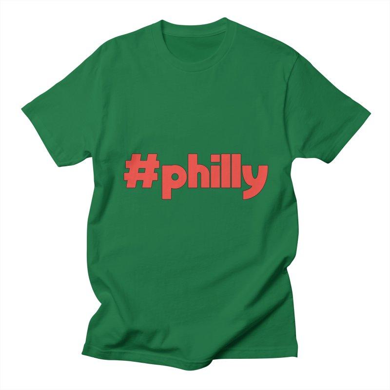 Hashtag Philly Men's Regular T-Shirt by denisegraphiste's Artist Shop