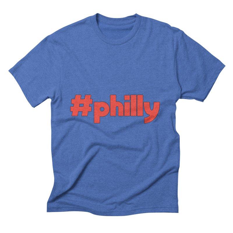 Hashtag Philly Men's Triblend T-Shirt by denisegraphiste's Artist Shop