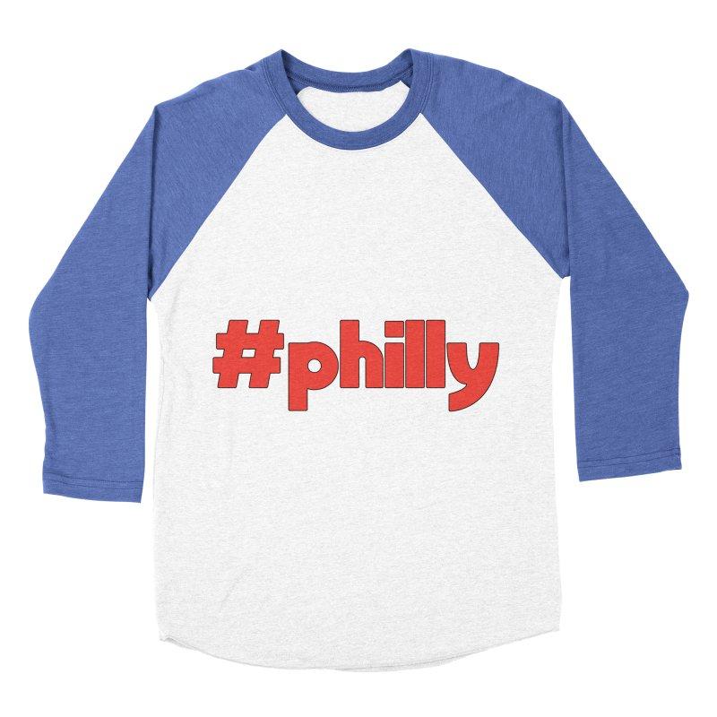 Hashtag Philly Women's Baseball Triblend Longsleeve T-Shirt by denisegraphiste's Artist Shop