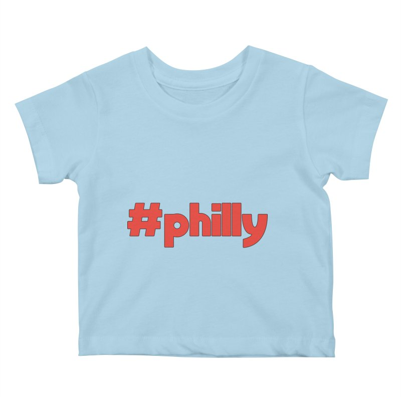 Hashtag Philly Kids Baby T-Shirt by denisegraphiste's Artist Shop