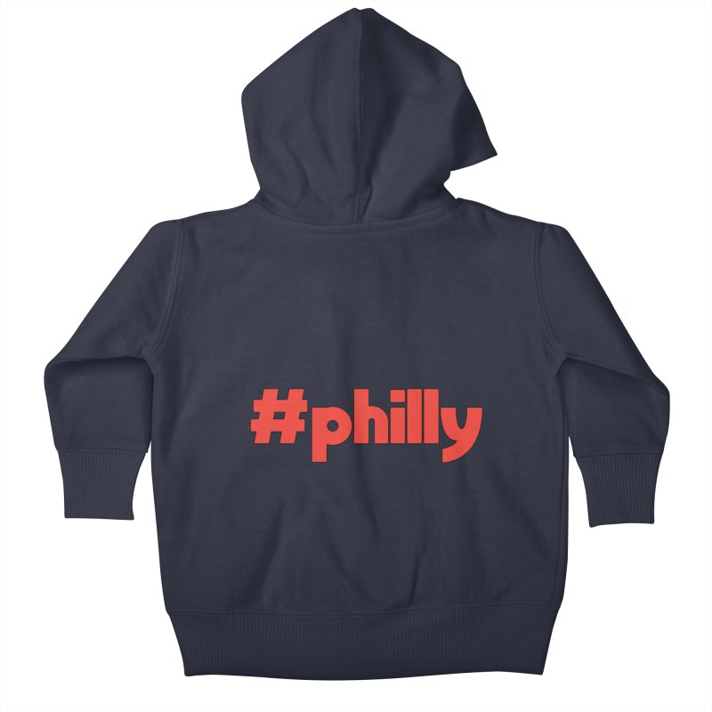 Hashtag Philly Kids Baby Zip-Up Hoody by denisegraphiste's Artist Shop