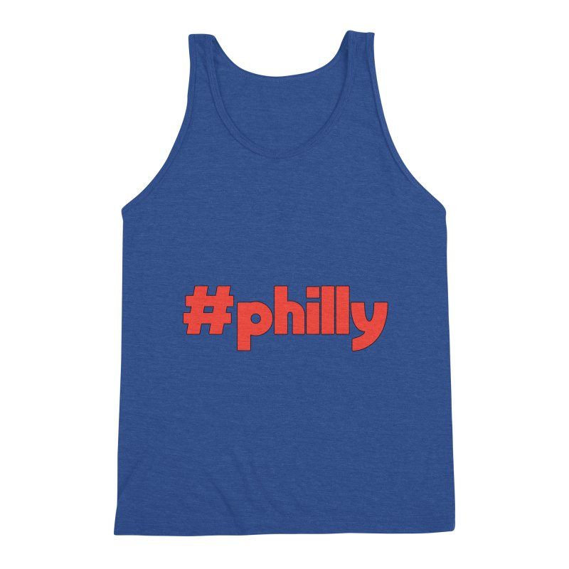 Hashtag Philly Men's Triblend Tank by denisegraphiste's Artist Shop