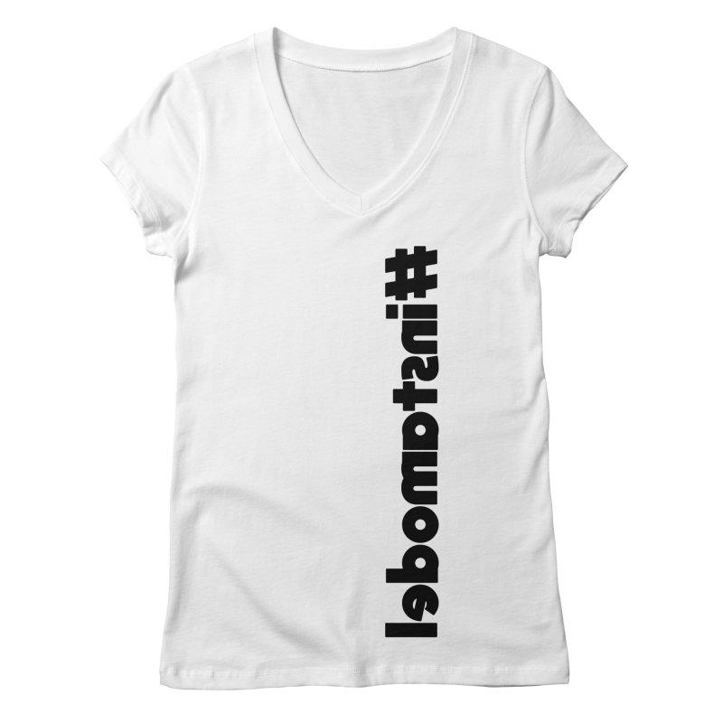 Hashtag Instamodel Women's Regular V-Neck by denisegraphiste's Artist Shop