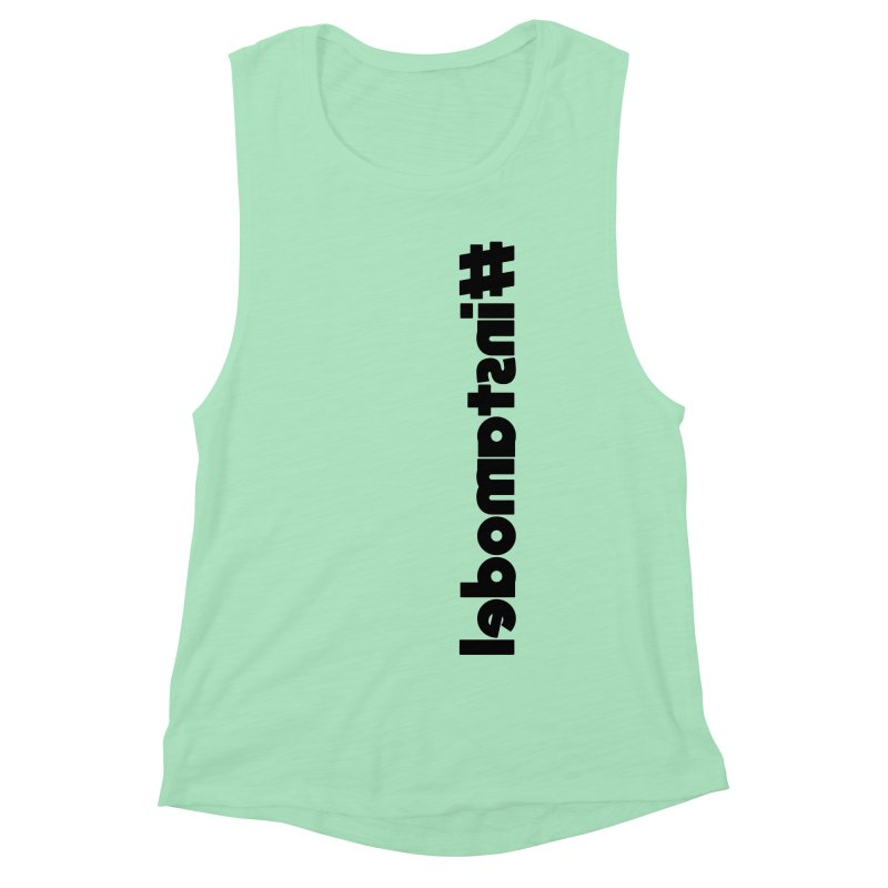 Hashtag Instamodel Women's Muscle Tank by denisegraphiste's Artist Shop