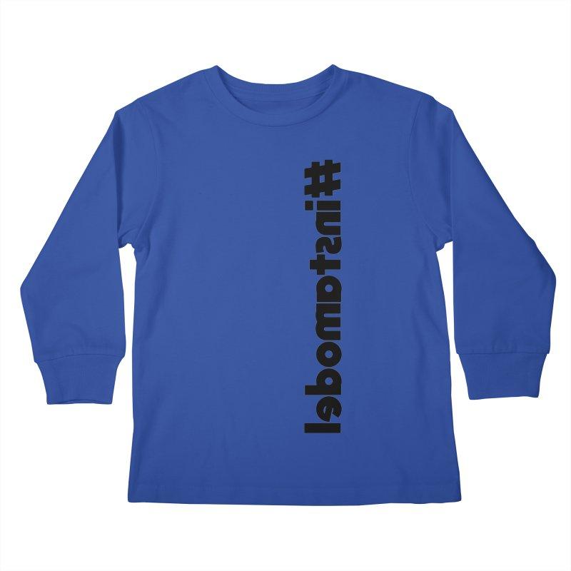 Hashtag Instamodel Kids Longsleeve T-Shirt by denisegraphiste's Artist Shop