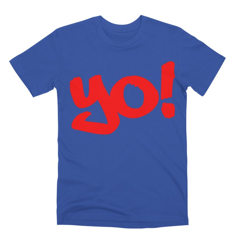 Yo! Philly Greeting Men's Premium T-Shirt by denisegraphiste's Artist Shop