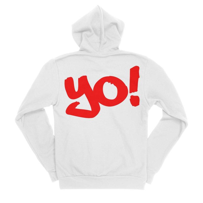 Yo! Philly Greeting Men's Sponge Fleece Zip-Up Hoody by denisegraphiste's Artist Shop