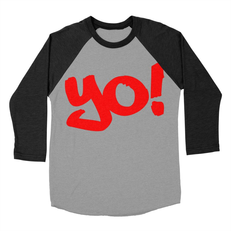 Yo! Philly Greeting Men's Baseball Triblend Longsleeve T-Shirt by denisegraphiste's Artist Shop