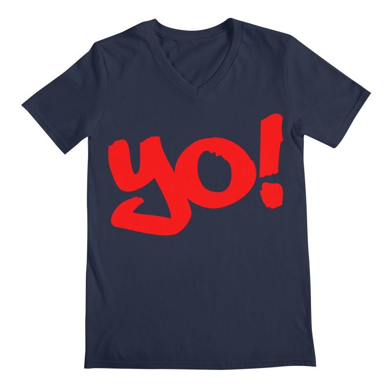 Yo! Philly Greeting Men's Regular V-Neck by denisegraphiste's Artist Shop