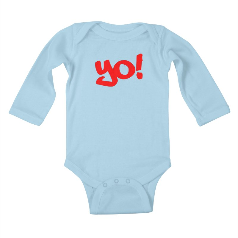 Yo! Philly Greeting Kids Baby Longsleeve Bodysuit by denisegraphiste's Artist Shop