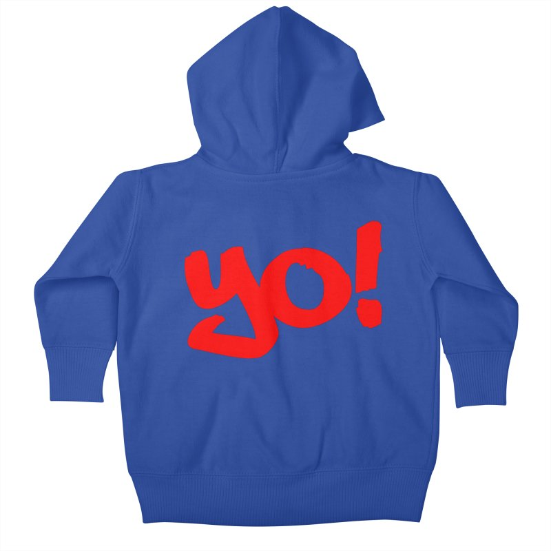 Yo! Philly Greeting Kids Baby Zip-Up Hoody by denisegraphiste's Artist Shop