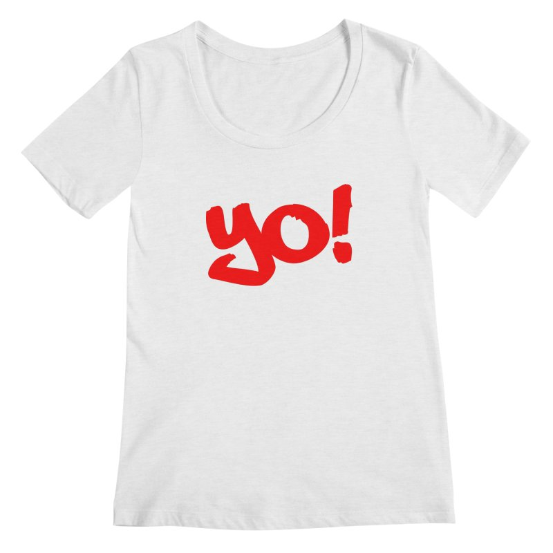Yo! Philly Greeting Women's Regular Scoop Neck by denisegraphiste's Artist Shop
