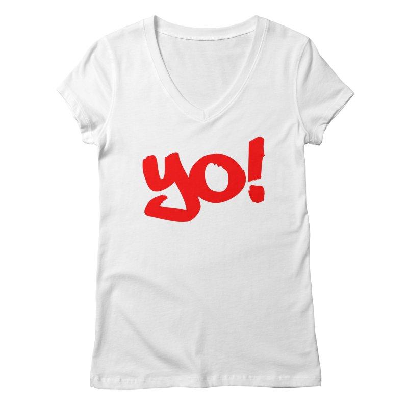 Yo! Philly Greeting Women's Regular V-Neck by denisegraphiste's Artist Shop