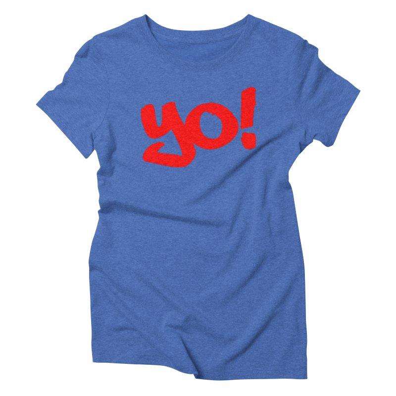 Yo! Philly Greeting Women's Triblend T-Shirt by denisegraphiste's Artist Shop